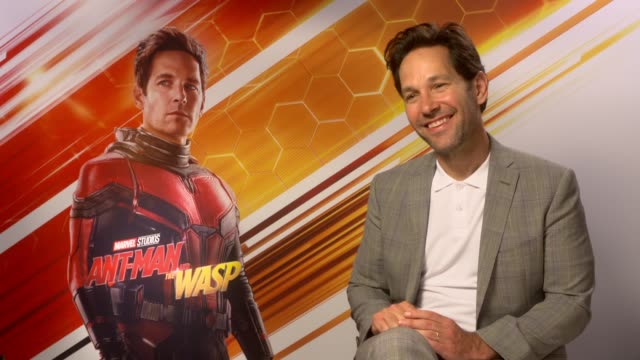 AntMan and the Wasp junket interviews ENGLAND INT Paul Rudd interview SOT