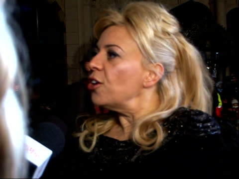 'Australia' premiere red carpet interviews Catherine Martin being interviewed on biggest challenge being logistical on style being a combination of...