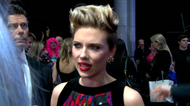 avengers age of ultron london interviews with the stars scarlett johansson interview sot / johansson with fans / gvs introduction to the film with... - scarlett johansson stock videos and b-roll footage