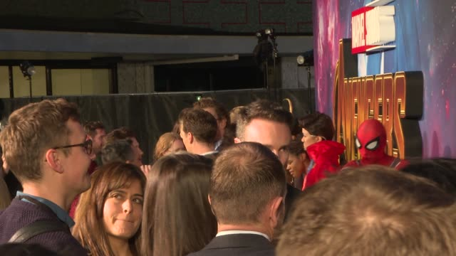 infinity war' fan event; london: white city: television studios: ext benedict cumberbatch along / elizabeth olsen and tom hiddleston hugging and... - cast member stock videos & royalty-free footage