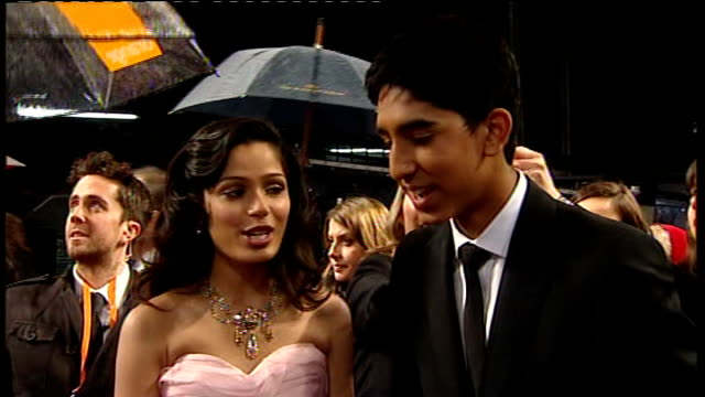 Film Awards 2009 Danny Boyle interview SOT Freida Pinto and Dev Patel interview SOT Kate Winslet interview SOT Brad Pitt interview as standing next...