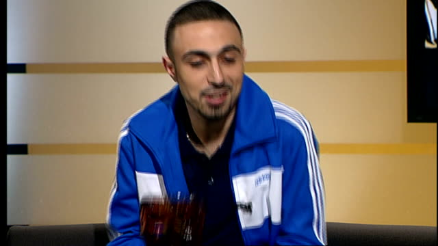 Adam Deacon wins Rising Star award ENGLAND London GIR INT Adam Deacon LIVE STUDIO interview SOT
