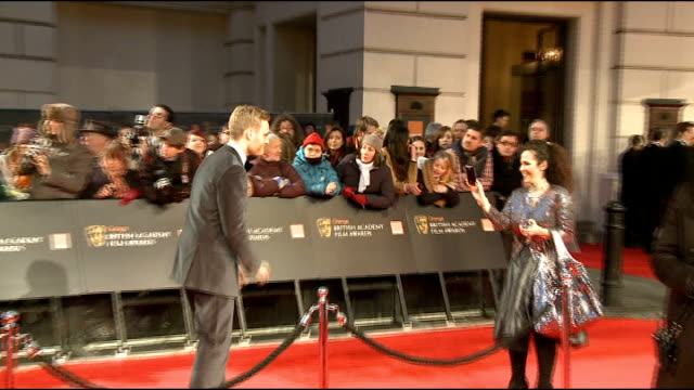 celebrity arrivals asif kapadia interview sot on senna being nominated / importance of the baftas unidentified man having photograph taken on red... - terry gilliam stock videos & royalty-free footage