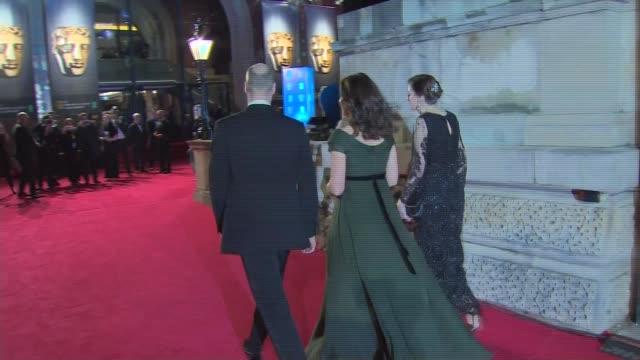 duke and duchess of cambridge arrival england london royal albert hall ext / night ***some prince william and catherine duchess of cambridge arrival... - royal albert hall stock videos and b-roll footage