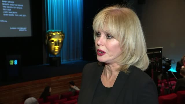film awards 2018: nominations announced; joanna lumley arriving on stage to applause and speaking at podium joanna lumley interview sot large bafta... - bafta mask stock videos & royalty-free footage
