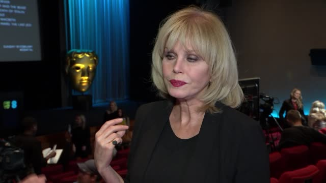 nominations announced joanna lumley interview sot - joanna lumley stock videos & royalty-free footage