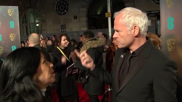 film awards 2018: red carpet gvs ; salma hayek interview sot / martin mcdonagh interview sot / gary oldman interview sot - gary oldman stock videos & royalty-free footage
