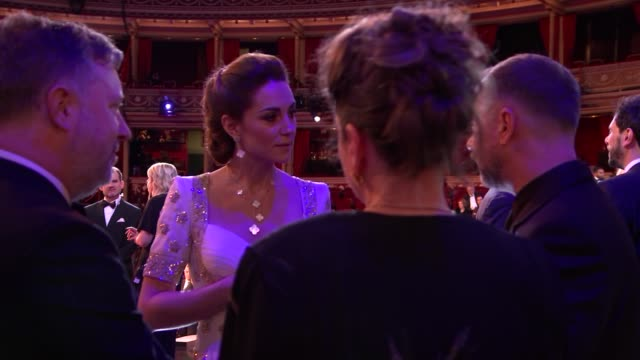 duke and duchess of cambridge meet winners england london kensington royal albert hall ***flash catherine duchess of cambridge chatting with... - royalty stock videos & royalty-free footage