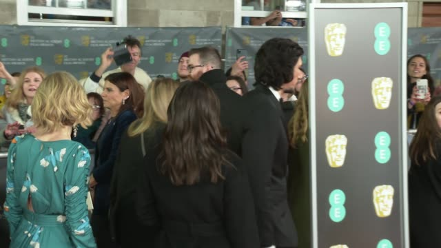 film awards 2020: red carpet arrival and interviews; england: london: royal albert hall: bafta film awards: ext john boyega posing for selfies with... - andy serkis stock videos & royalty-free footage
