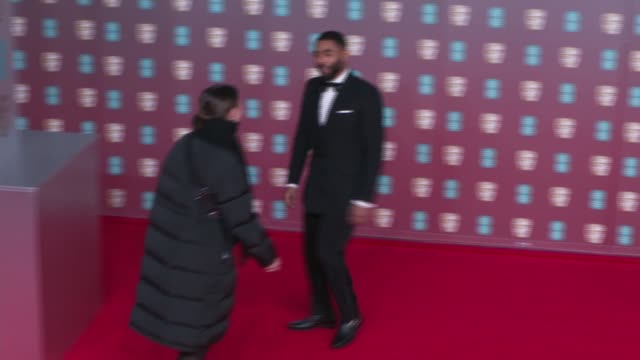 film awards 2020: red carpet photocalls; england: london: royal albert hall: ext **beware flash photography** anthony welsh posing for photocall /... - animator stock videos & royalty-free footage