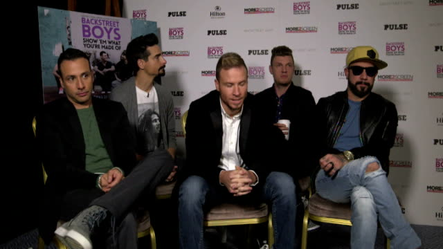 backstreet boys interview; england: london: int backstreet boys interview sot - backstreet boys stock videos & royalty-free footage