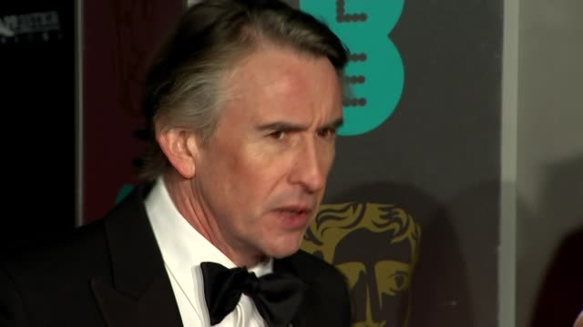 awards 2019: red carpet photocalls and arrivals; england: london: kensington: the royal albert hall: ext/night arrivals on bafta awards red carpet -... - steve coogan stock videos & royalty-free footage