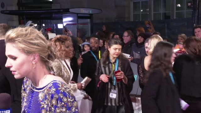 BAFTA Film Awards 2019 red carpet arrivals and interviews ENGLAND London Kensington The Royal Albert Hall Melissa McCarthy interview SOT / Claire Foy...