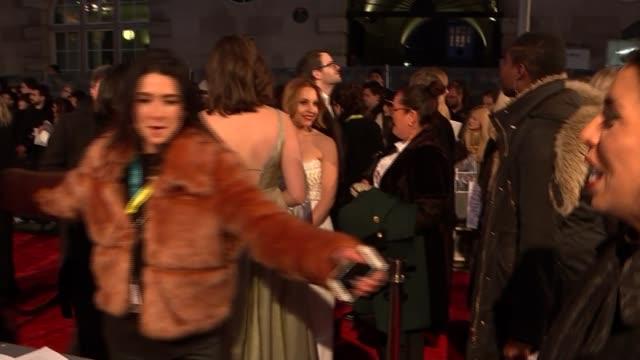 BAFTA Film Awards 2019 red carpet interviews ENGLAND London Kensington The Royal Albert Hall EXT Amy Adams on red carpet / Deborah Davis interview SOT