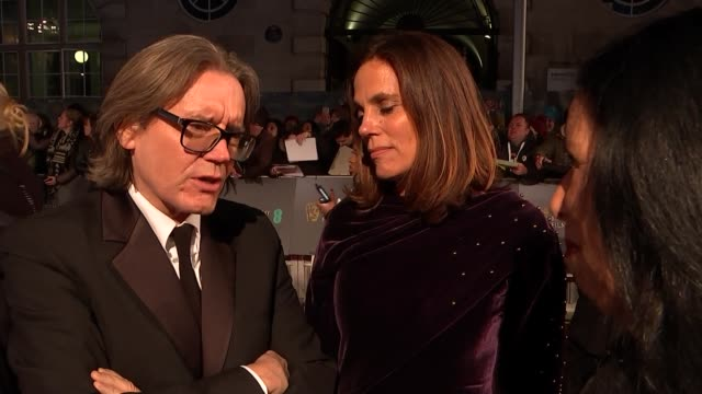 BAFTA Film Awards 2019 red carpet interviews ENGLAND London Kensington The Royal Albert Hall EXT Melissa McCarthy chatting to press / Steve Coogan...