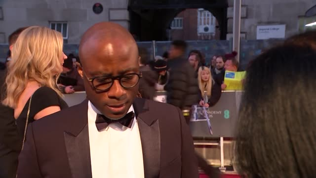 vídeos de stock, filmes e b-roll de bafta film awards 2019 red carpet interviews england london kensington the royal albert hall ext barry jenkins interview sot / elizabeth chai... - if beale street could talk