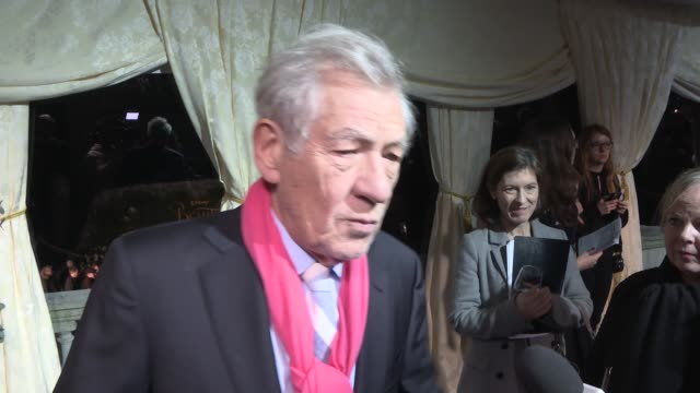 'beauty and the beast' premiere: red carpet interviews; film: 'beauty and the beast' premiere: red carpet interviews; alan menken interview sot - re... - emma thompson stock videos & royalty-free footage