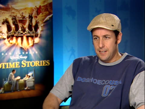 bedtime stories adam sandler and adam shankman interviews adam sandler interview continued sot on having variety with films quick fire - adam sandler stock videos & royalty-free footage