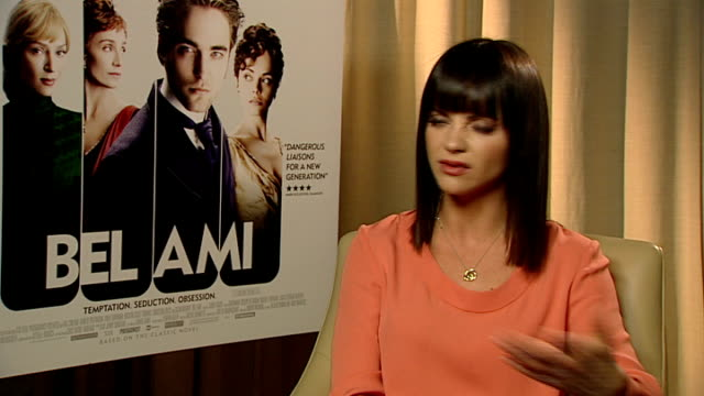 'Bel Ami'Christina Ricci interview ENGLAND London INT Christina Ricci interview SOT the corsets in the film were really tight but loved getting all...