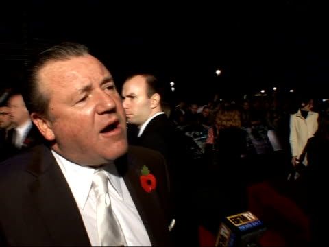 'Beowulf' premiere arrivals and interviews Ray Winstone speaking to press and interview SOT On getting to kiss Angelina Jolie / On the film 'Beowulf'