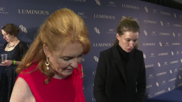 bfi luminous 2019 fundraising gala red carpet photocalls and interviews england london the roundhouse bfi luminous 2019 fundraising gala int sarah... - duchess of york stock videos & royalty-free footage