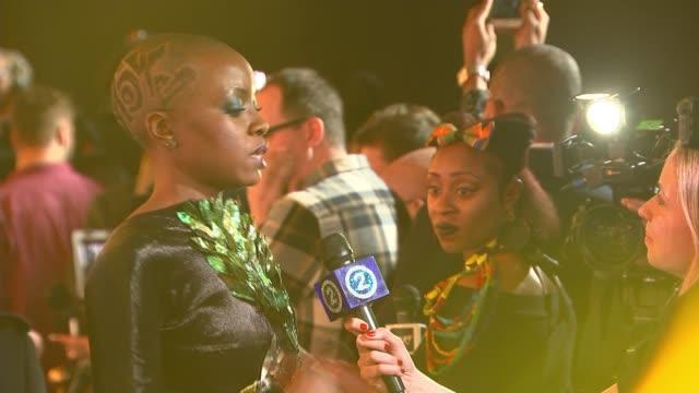 'black panther' european premiere england london hammersmith eventim apollo general view people on red carpet daniel kaluuya talking to press danai... - danai gurira stock videos and b-roll footage