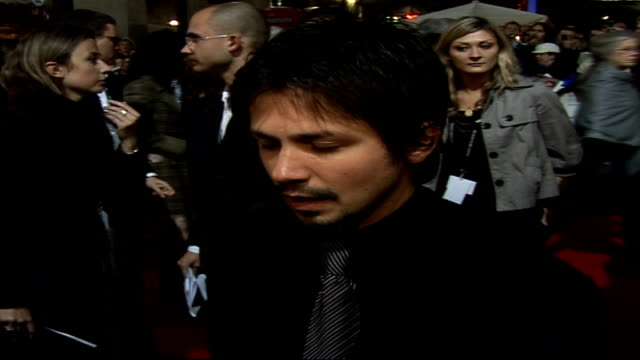 'Bobby' premiere at London Film Festival Arrivals and interviews Freddie Rodriguez interview on red carpet SOT On how there will be comparisons with...