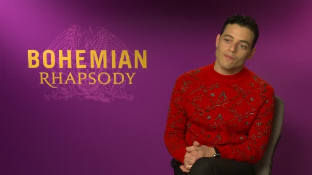 'Bohemian Rhapsody' interviews ENGLAND London INT Rami Malek interview SOT On trying to find new answers to give On the most amount of pressure he's...