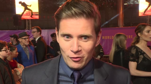 'Bohemian Rhapsody' world premiere ENGLAND London Wembley SSE Arena Bohemian Rhapsody World Premiere EXT Allen Leech speaking to press on red carpet...