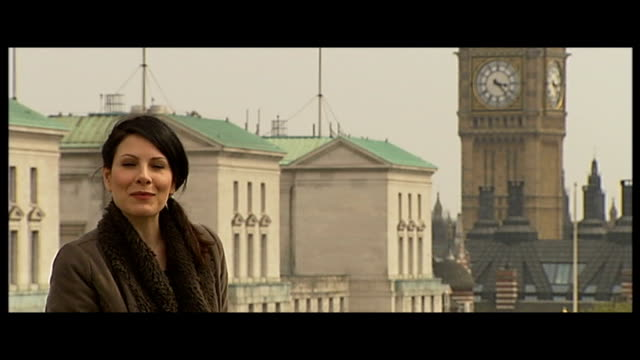 bond returns with 'skyfall' trailer england london department of energy and climate change ext reporter to camera on rooftop - skyfall stock videos and b-roll footage