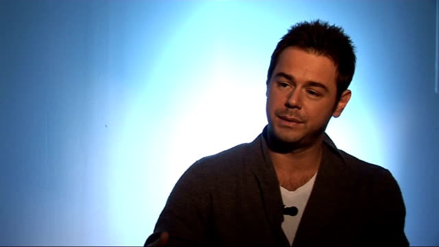 danny dyer interview on his autobiography; england: london: int danny dyer interview sot - on his autobiography coming out - excited and anxious... - biographie stock-videos und b-roll-filmmaterial