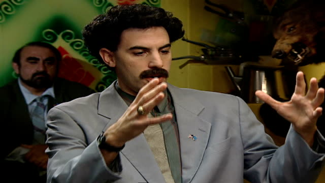'borat cultural learnings of america for make benefit glorious nation of kazakhstan' borat interview the difference between english women american... - justin timberlake stock-videos und b-roll-filmmaterial