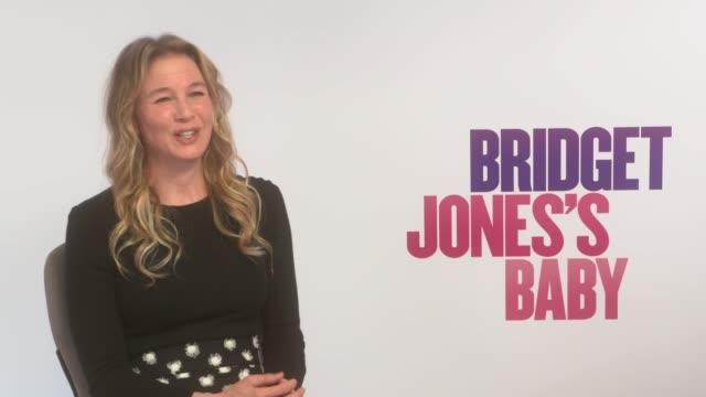 'bridget jones's baby' renee zellweger sally phillips and sharon maguire interviews england london int renee zellweger interview sot re new film... - renee zellweger stock videos & royalty-free footage