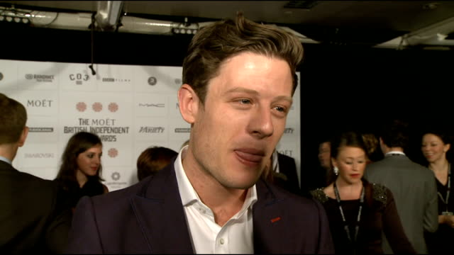 british independent film awards 2012 arrivals unidentified red carpet interview sot james norton red capet interview sot jack o'connell red capet... - billy connolly stock videos & royalty-free footage