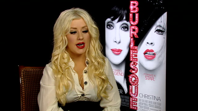 'Burlesque' junket interviews ENGLAND London INT Christina Aguilera interview SOT On the film being very sexy burlesque is the art of the tease so...