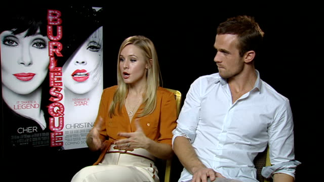 'Burlesque' junket interviews Kristen Bell and Cam Gigandet interviewed SOT Cam on being slightly too attractive in the film and it being a dream...