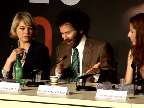 Cannes Film Festival Synecdoche New York FRANCE Cannes THROUGHOUT** Cast of film 'Synecdoche New York' talking about film at press conference...