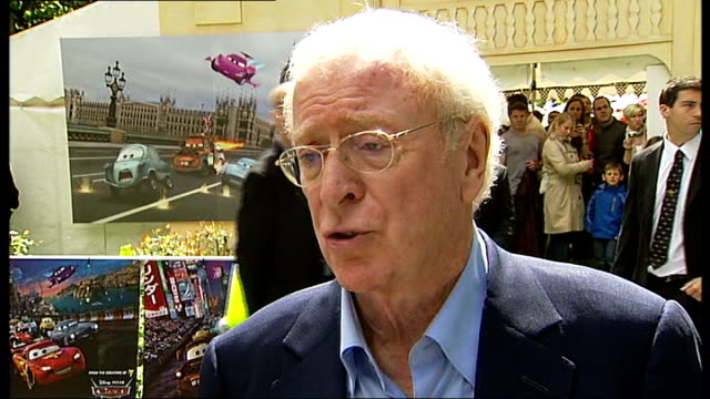 'cars 2' premiere michael caine interview sot on working with cars on the italian job jason isaacs interview sot on how he used to drive very fast... - jason isaacs stock videos & royalty-free footage