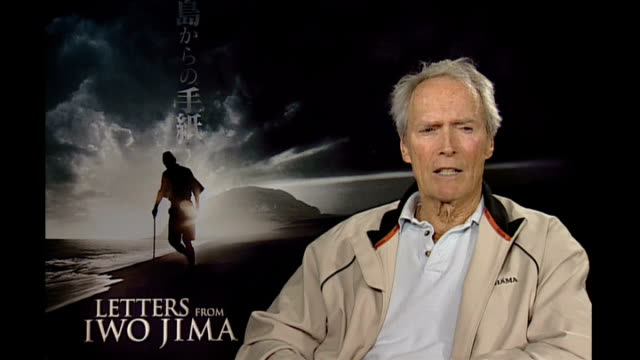 Clint Eastwood interview Eastwood interview SOT If you learn something new if you're doing subjects that are different cultures are different you get...