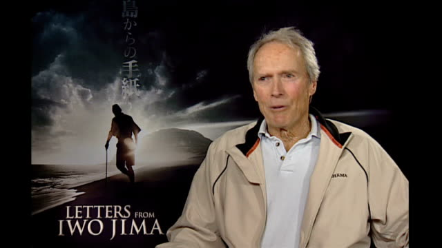 Clint Eastwood interview ENGLAND INT Clint Eastwood interview SOT [In response to reporter saying that it will be interesting to talk about the film]...