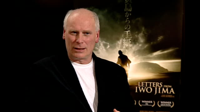 Clint Eastwood interview Reporter asking question SOT Eastwood interview SOT They [the studio] think I'm crazy anyway so it doesn't matter FADE