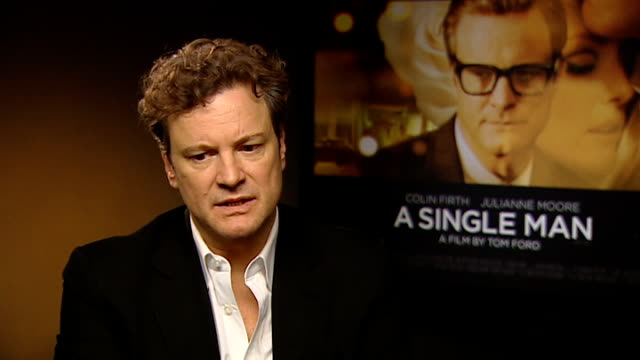 Colin Firth interview on 'A Single Man' Colin Firth interview continues SOT On Tom Ford being a great director / award nominations / very proud of...