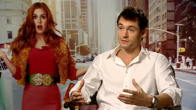 'Confessions of a Shopaholic' interviews Hugh Dancy interview SOT Enjoyed making the film / Unquestionably the film is aimed at women but I wanted to...
