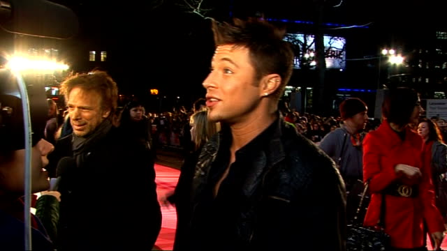 'confessions of a shopaholic' preview: red carpet interviews; duncan james interview sot - on watching television reality show 'dancing on ice' james... - shopaholic stock videos & royalty-free footage