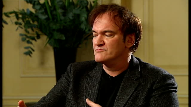Controversy over Django Unchained / Quentin Tarantino interview ENGLAND London INT Quentin Tarantino interview SOT