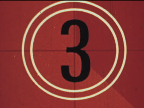 film countdown leader - film leader stock videos & royalty-free footage