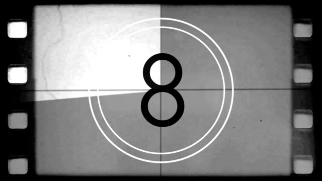 film countdown leader - clock stock videos & royalty-free footage