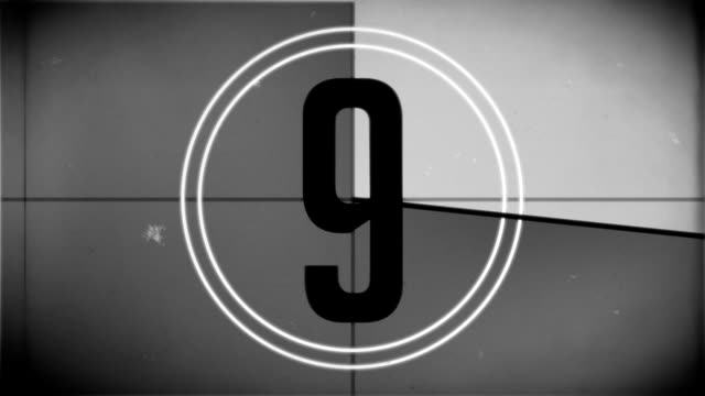 film countdown leader - film leader stock videos & royalty-free footage