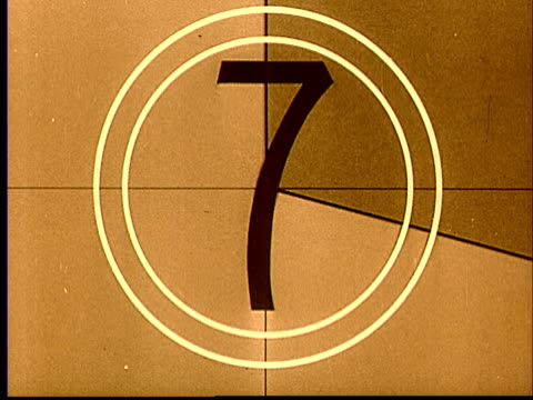 1970 ms film countdown leader with brief image of woman/ audio - number 3 stock videos & royalty-free footage