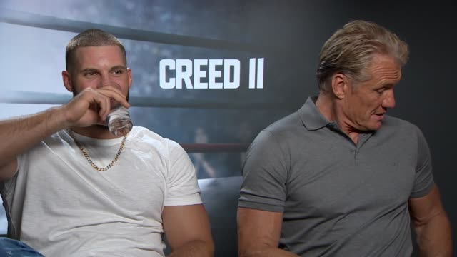 Creed II junket interviews UK London Actors Viktor Drago and Dolph Lungren interviewed about new film 'Creed II' Florian Munteanu and Dolph Lungren...